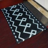 yazi Non-Slip Doormat Kitchen Rugs Black&White Style Mat European Style 40x60cm (15.7x23.6inch)