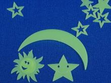 yazi Glitter Fluorescent Moon Stars Luminous Sticker Gift
