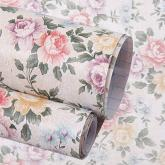 yazi Self-Adhesive Shelf Liner Drawer Contact Paper,17x78 Inches,Vintage Peony