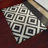 yazi Non-Slip Doormat Kitchen Rugs Black&White Style Mat Mosaic Cube 40x60cm (15.7x23.6inch)