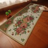 yazi Vintage Peony Flower Bedroom Area Non-slip Rectangle Kitchen Mat,17x69 Inches