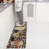 yazi Non-Slip Doormat Kitchen Rugs Mediterranean style With White Starfish 40x60cm (15.7x23.6inch) (17.7x53inch, Colorful Brick Glass Cat)