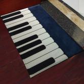 yazi Non-Slip Doormat Kitchen Rugs Black&White&Blue Style Mat 40x60cm (15.7x23.6inch)