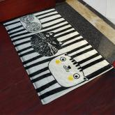 yazi Non-Slip Doormat Kitchen Rugs Black&White Style Mat Cool Cat 40x60cm (15.7x23.6inch)