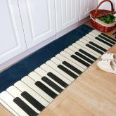 yazi Non-Slip Doormat Kitchen Rugs Black&White&Blue Style 40x115cm (15.7x45.3inch)