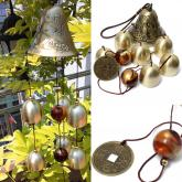 yazi Outdoor Amazing 6 Bells Copper Wind Chimes Home Yard Veranda Valentine's Day Gift
