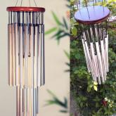 yazi Large Outdoor Wind Chimes 27 Silver Tubes Home Garden Noisemaker
