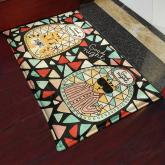 yazi Non-Slip Doormat Kitchen Rugs Mat 40x60cm (15.7x23.6inch, Colorful Brick Glass Cat)