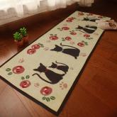 yazi Jacquard Cattery Anti-slip Kitchen Mat Cartoon Absorbent Pad 19''x 82''