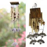 yazi Metal Wind Chimes 12 Tubes Fan Patio Garden Yard Hanging Great Sound Windbells