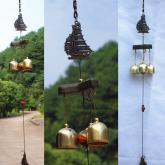 yazi Sailing Boat Antique Wind Chimes 3 Bells Hanging Outdoor Garden Windbell Baby Shower Gift
