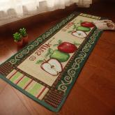yazi Fresh Picked Apples Vintage Non-slip Area Rug Kitchen Mat,17x68 Inches