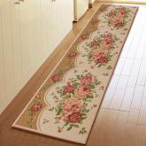 yazi Rural Style Peony Non-slip Easy Clean Kitchen Area Rug Runner,17x92 Inches