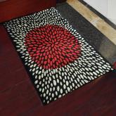yazi Non-Slip Doormat Kitchen Rugs Black&White Style Mat 40x60cm (15.7x23.6inch)