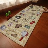 yazi  Jacquard Cotton Linen Kitchen Area Rug Floor Mat for Home Living Room