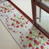 yazi Strawberry Anti-Slip Washable Long Floor Carpet Kitchen Mat Rug,17x69 Inches