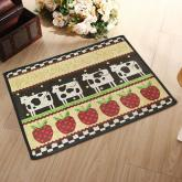 yazi Cow Apple Jacquard Cotton Fiber Rectangular Entrance Mat Home Doormat,17x23 Inch