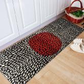 yazi Non-Slip Doormat Kitchen Rugs Black&White Style 40x115cm (15.7x45.3inch)