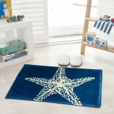 yazi Non-Slip Doormat Kitchen Rugs Mediterranean style With White Starfish 40x60cm (15.7x23.6inch)
