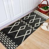 yazi Non-Slip Doormat Kitchen Rugs Black&White Style European Style 40x115cm (15.7x45.3inch) Thanksgiving Gift