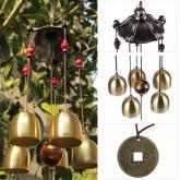 yazi Pentágono Pavilion dinero dibujo Wind Chimes 5 campanas casa jardín Feng Shui Decoración