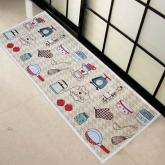 yazi  I Love Kitchen Pattern Fabric Non-slip Door Rug Mat,47-by-18 Inches