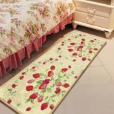 yazi Strawberry String Fabric Non-slip Kitchen Mat Rug,48x18 Inches