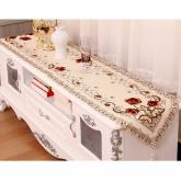 yazi Peony Flower Wedding Home Embroidered Cutwork Table Runner 16x98 Inches