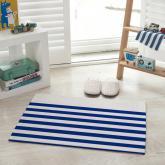 yazi Non-Slip Doormat Kitchen Rugs Mediterranean style 15.7x23.6inch Blue Stripe