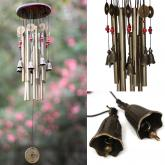 yazi Wood Bell Wind Chimes Home Garden Patio Decor Gift 13 Metal Tubes 8 Bells